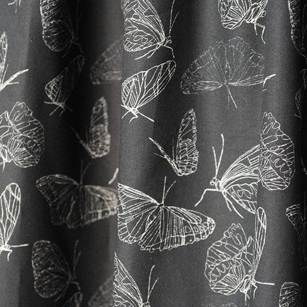 bedruckte_Bio_Stoffe_butterfly_black